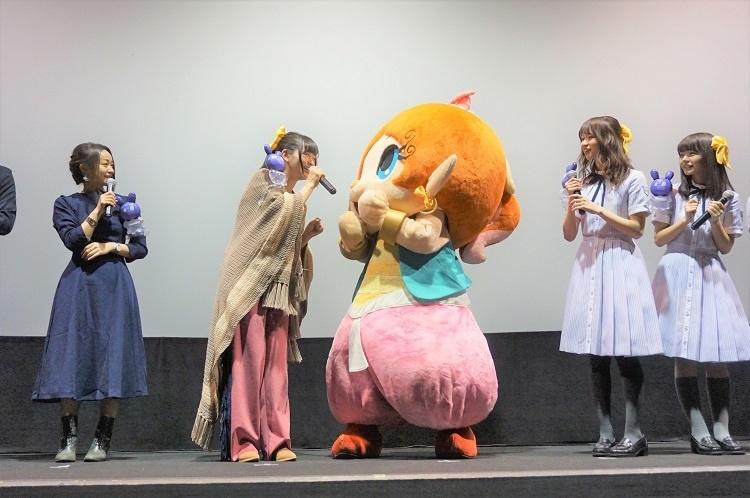 映画『パンドラとアクビ』天城サリーさん、田村睦心さんら出演の初日舞台挨拶が実施! さらに、着ぐるみ「あくびちゃん」が渋谷・新宿を駆け巡る!?