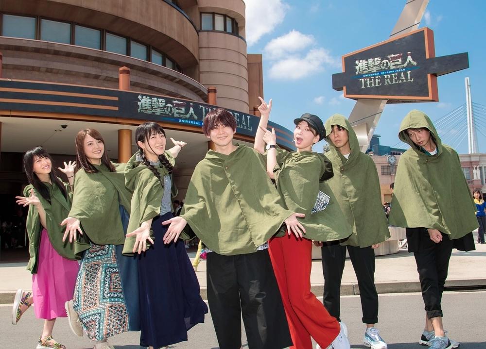 梶裕貴・神谷浩史ら声優7名がUSJで『進撃の巨人・ザ・リアル』を体験!