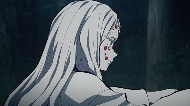 『鬼滅の刃』第16話「自分ではない誰かを前へ」より先行カット到着! 炭治郎と伊之助は、蜘蛛の糸に囚われた鬼殺隊員と戦い、山の奥へ