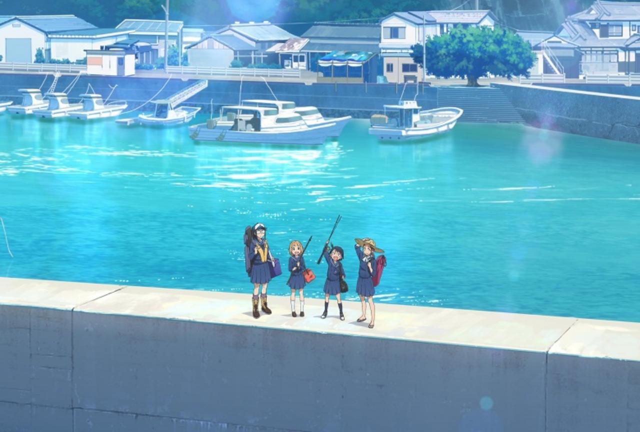 堤防 日誌 放課後 アニメ 釣り