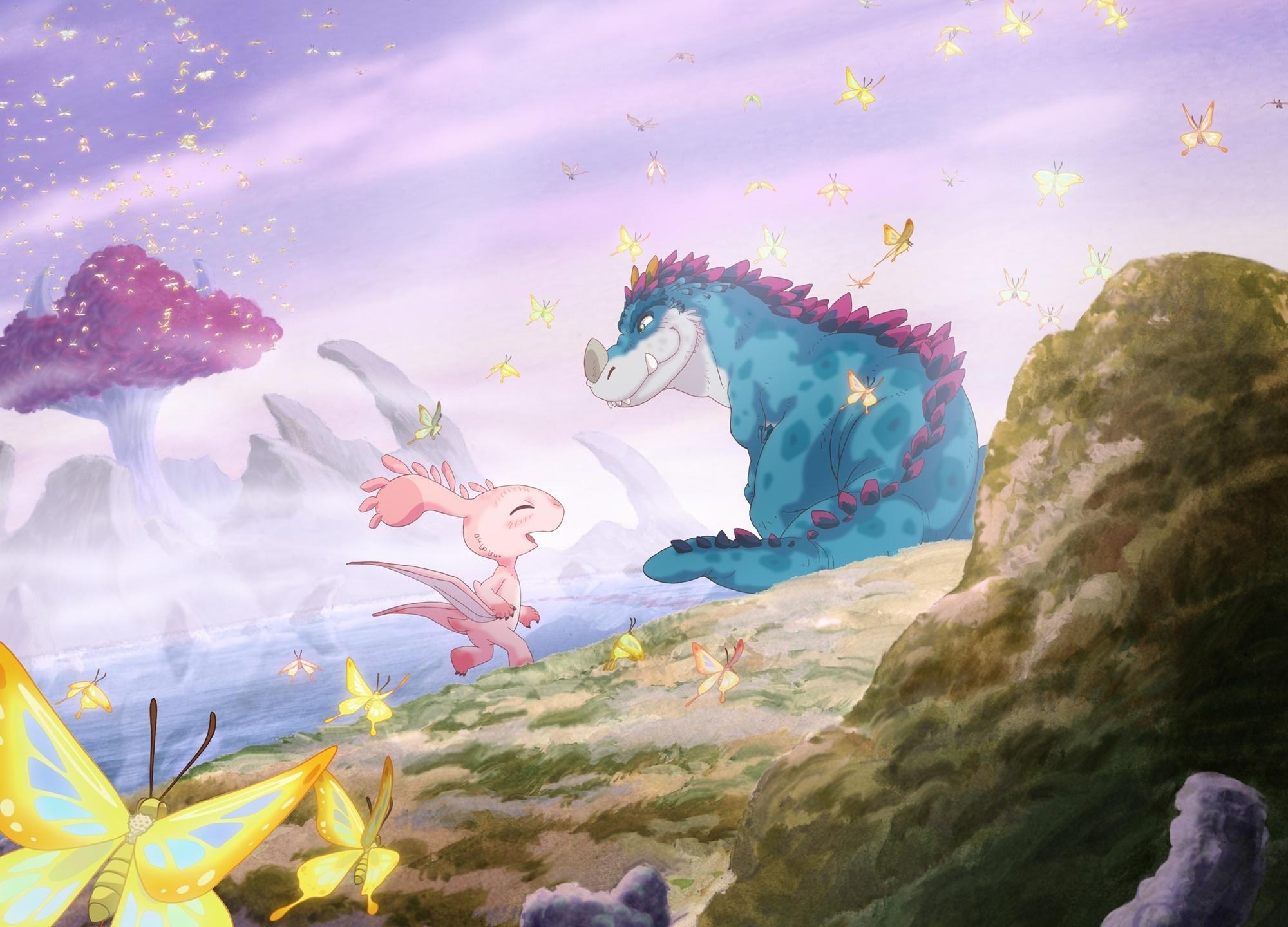 アニメ映画『さよなら、ティラノ』2020年夏 公開!三木眞一郎、石原夏織、悠木碧ほかキャスト解禁