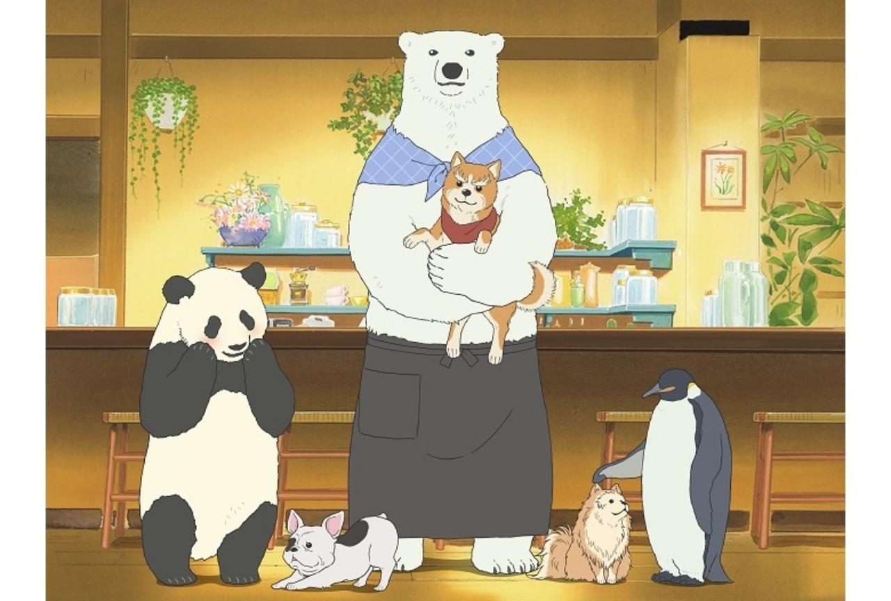 冬アニメ『織田シナモン信長』×『しろくまカフェ』とのコラボイラストが公開