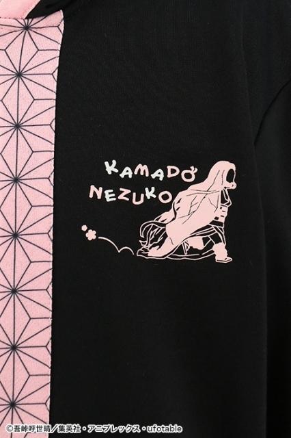 アニメ『鬼滅の刃』竈門禰豆子をイメージしたパーカーが発売決定!禰豆子のシルエットや着物の柄がデザインされたキュートなデザイン-8