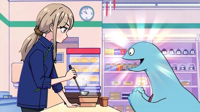 春アニメ『ギャルと恐竜』第3話の先行カット&あらすじ公開! 恐竜がバイト先に来る、先パイんチのご飯は美味い-1
