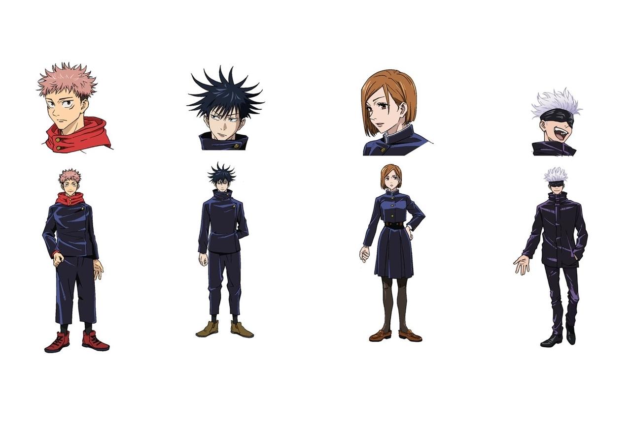 秋アニメ『呪術廻戦』メインキャラクター4名の設定画が公開
