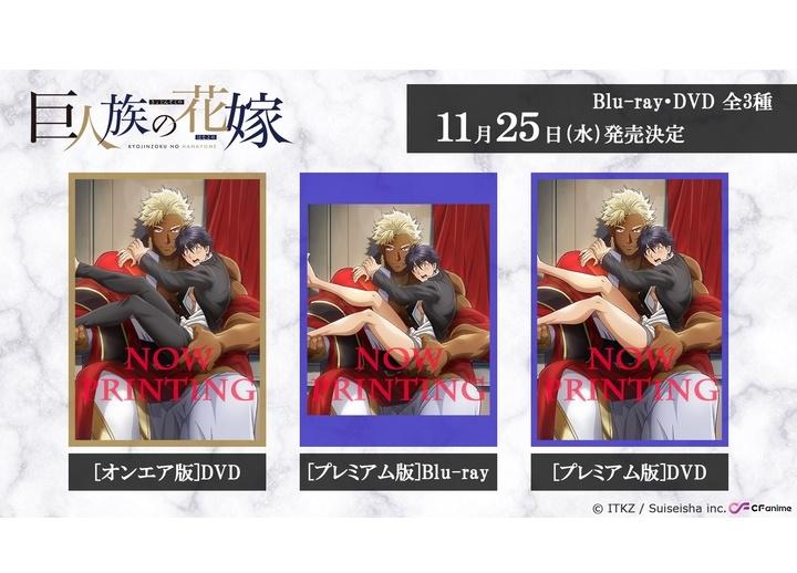 夏アニメ『巨人族の花嫁』BD発売、プレミアム版にオトナ向けシーン収録