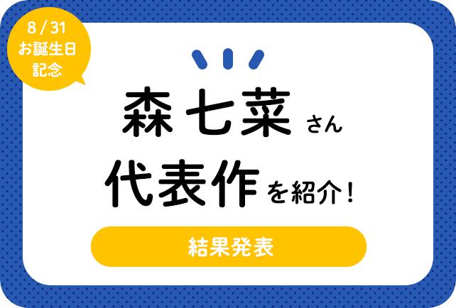 声優・森七菜さん、アニメキャラクター代表作まとめ(2020年版)