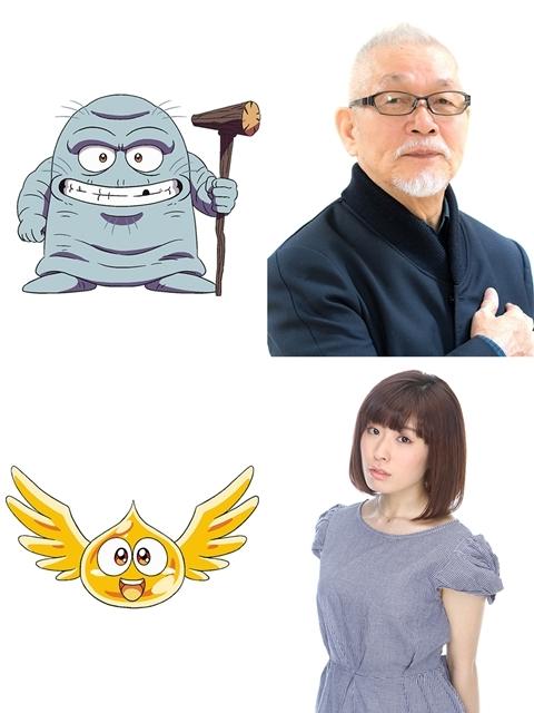 ▲上段ブラス 役・緒方賢一さん、下段ゴメちゃん 役・降幡 愛さん