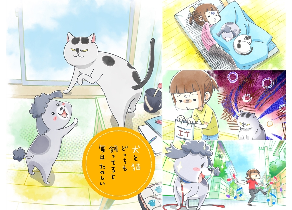 秋アニメ『犬と猫』声優の花澤香菜・杉田智和・金澤まいからコメ到着