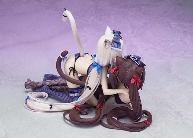 ADVゲーム『ネコぱら』より、「ショコラ」&「バニラ」が10周年記念タペストリーのイラストを元にフィギュア化!【今なら9%OFF!】