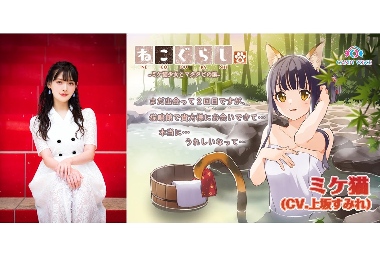 ASMR音声作品『ねこぐらし。』続編第1弾に声優・上坂すみれ出演