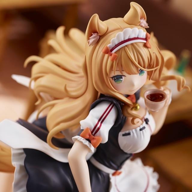 『ネコぱら』より、ネコ六姉妹の次女「メイプル」が大好きな紅茶を嗜むワンシーンがフィギュア化!【今なら12%OFF!】