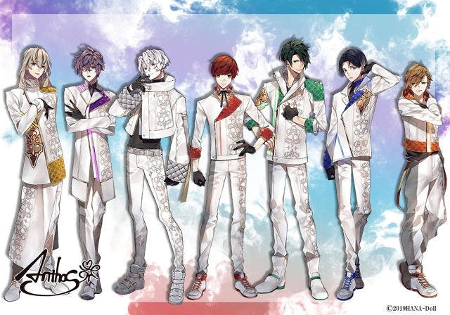 ▲左からチセ(CHISE)、灯堂理人(TOUDO LIHITO)、八代刹那(YASHIRO SETSUNA)、結城眞紘(YUKI MAHIRO)、影河凌駕(KAGEKAWA RYOGA)、如月薫(KISARAGI KAORU)、清瀬陽汰(KIYOSE HARUTA)