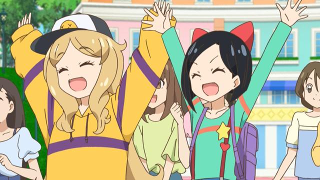 TVアニメ『キラッとプリ☆チャン』第123話先行場面カット・あらすじ到着!おしゃまトリックスのデビィとルゥはルルナから追われていたバグッチュと出会って……