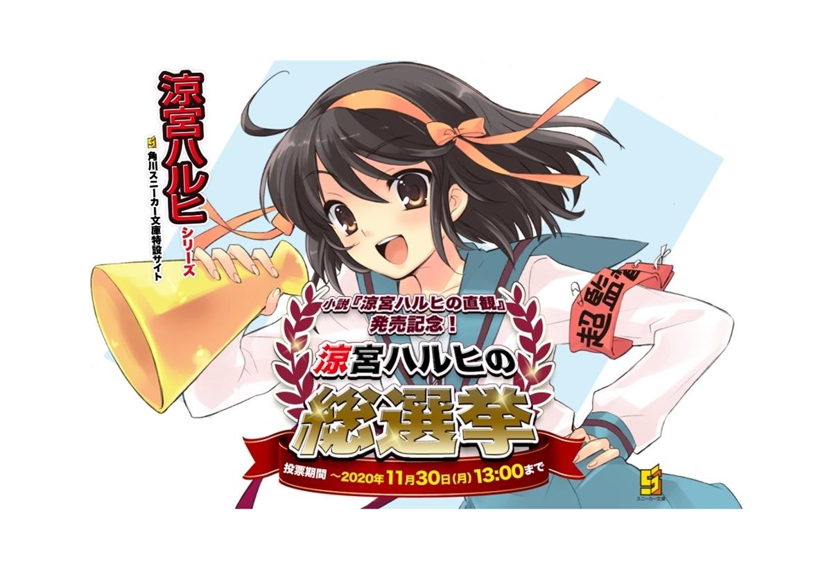 『涼宮ハルヒ』シリーズの人気キャラ総選挙が開催