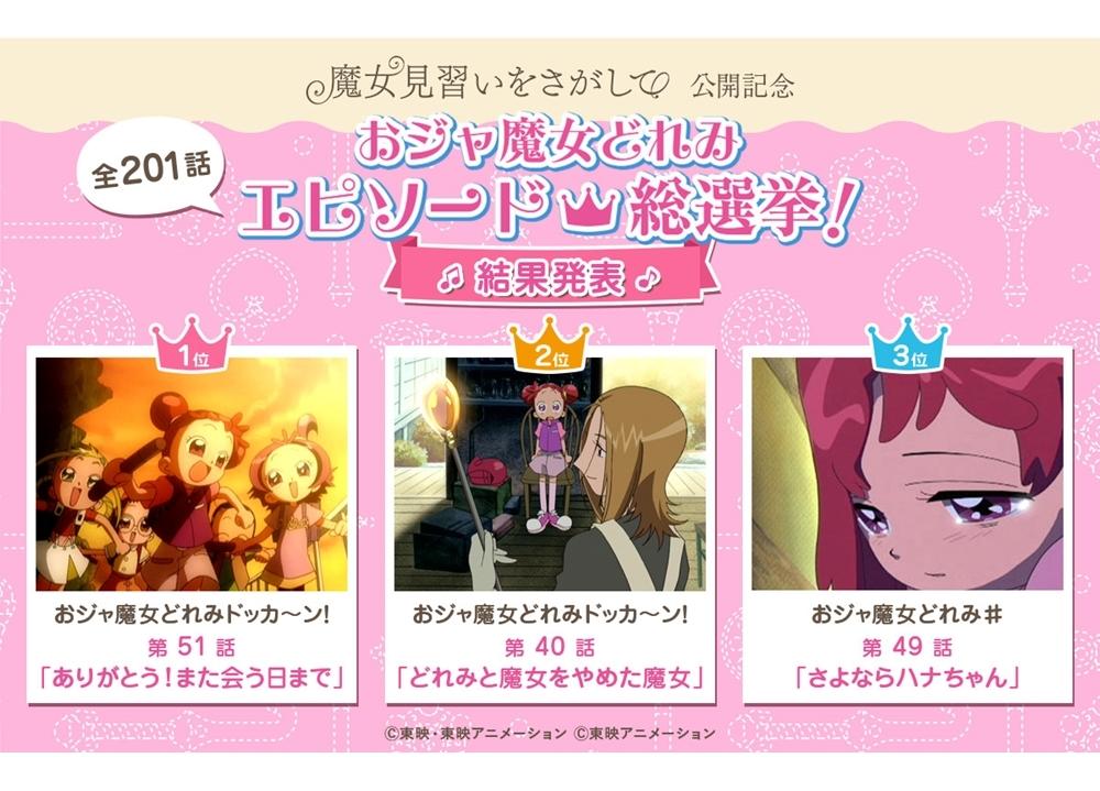 『おジャ魔女どれみ』エピソード総選挙の上位3作品の結果発表!