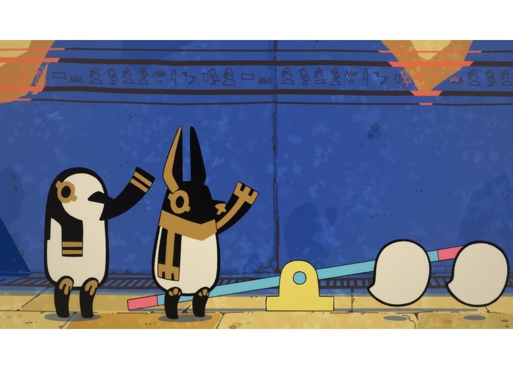 WEBアニメ『とーとつにエジプト神』第1話「とーとつにエジプト神」/「とーとつにアヌビス」場面カット公開!