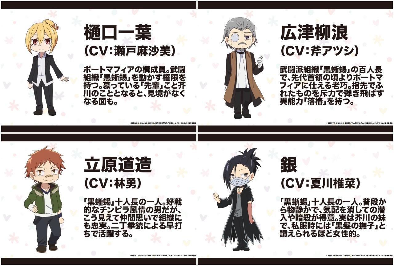 冬アニメ『⽂豪ストレイドッグス わん!』キャラクター情報第6弾公開!