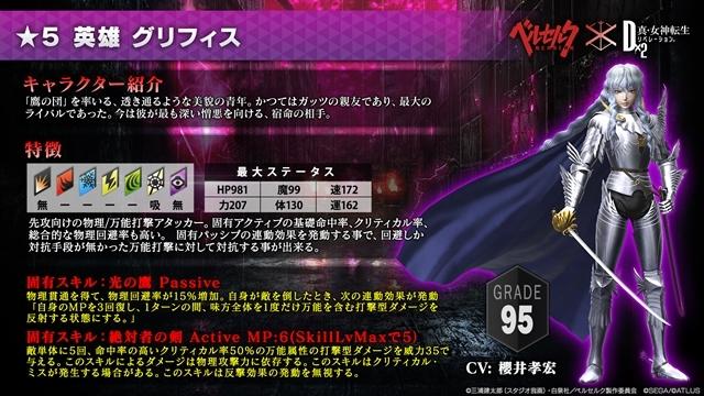 『D×2 真・女神転生 リベレーション』✕『ベルセルク』コラボ第2弾の詳細が発表!-7