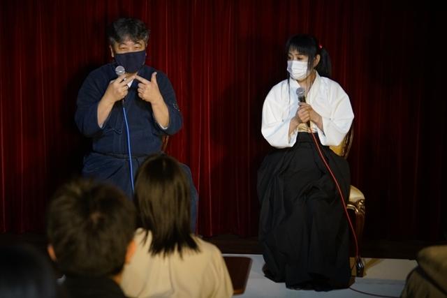 横山智佐さんが北辰一刀流を体験する古武術トークイベント、メイド喫茶「made mode」で開催!-7