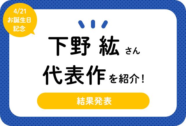声優・下野紘さん、アニメキャラクター代表作まとめ(2021年版)
