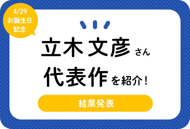 声優・立木文彦さん、アニメキャラクター代表作まとめ(2021年版)