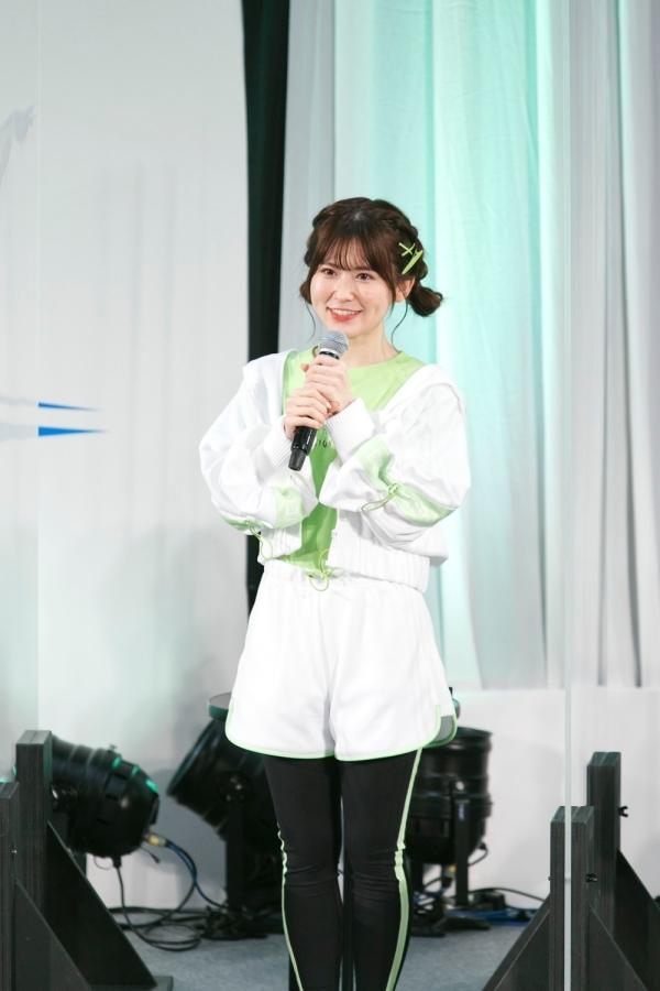▲花井美春さん(山鹿 栞役)