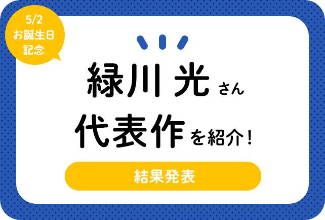 声優・緑川光さん、アニメキャラクター代表作まとめ(2021年版)