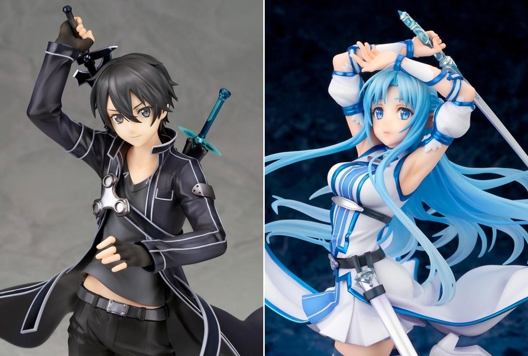 『SAO』黒の剣士「キリト」&ウンディーネ「アスナ」がフィギュア化