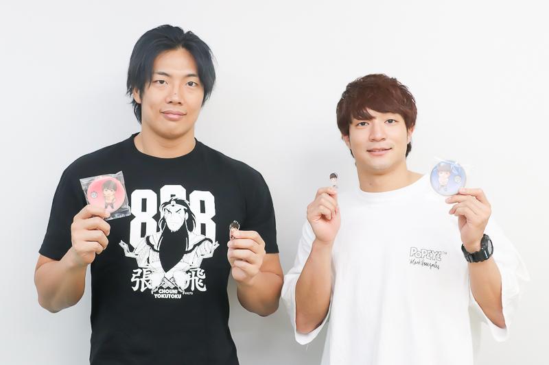 ▲左:竹下幸之介選手 右:上野勇希選手