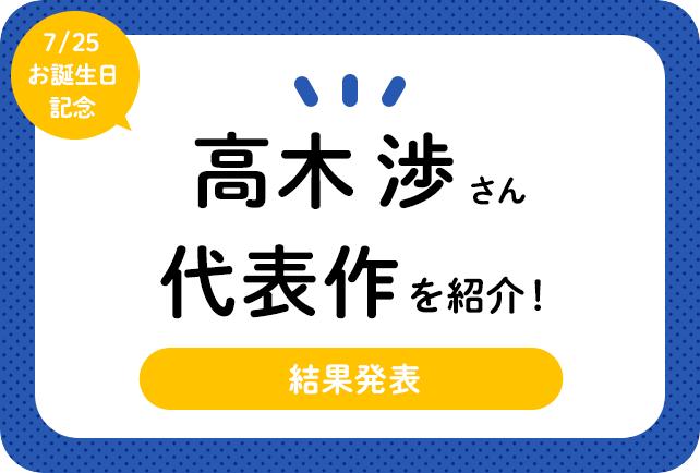 声優・高木渉さん、アニメキャラクター代表作まとめ(2021年版)