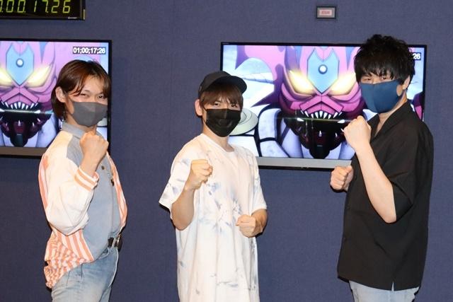▲左から向野存麿さん、内田雄馬さん、寸石和弘さん