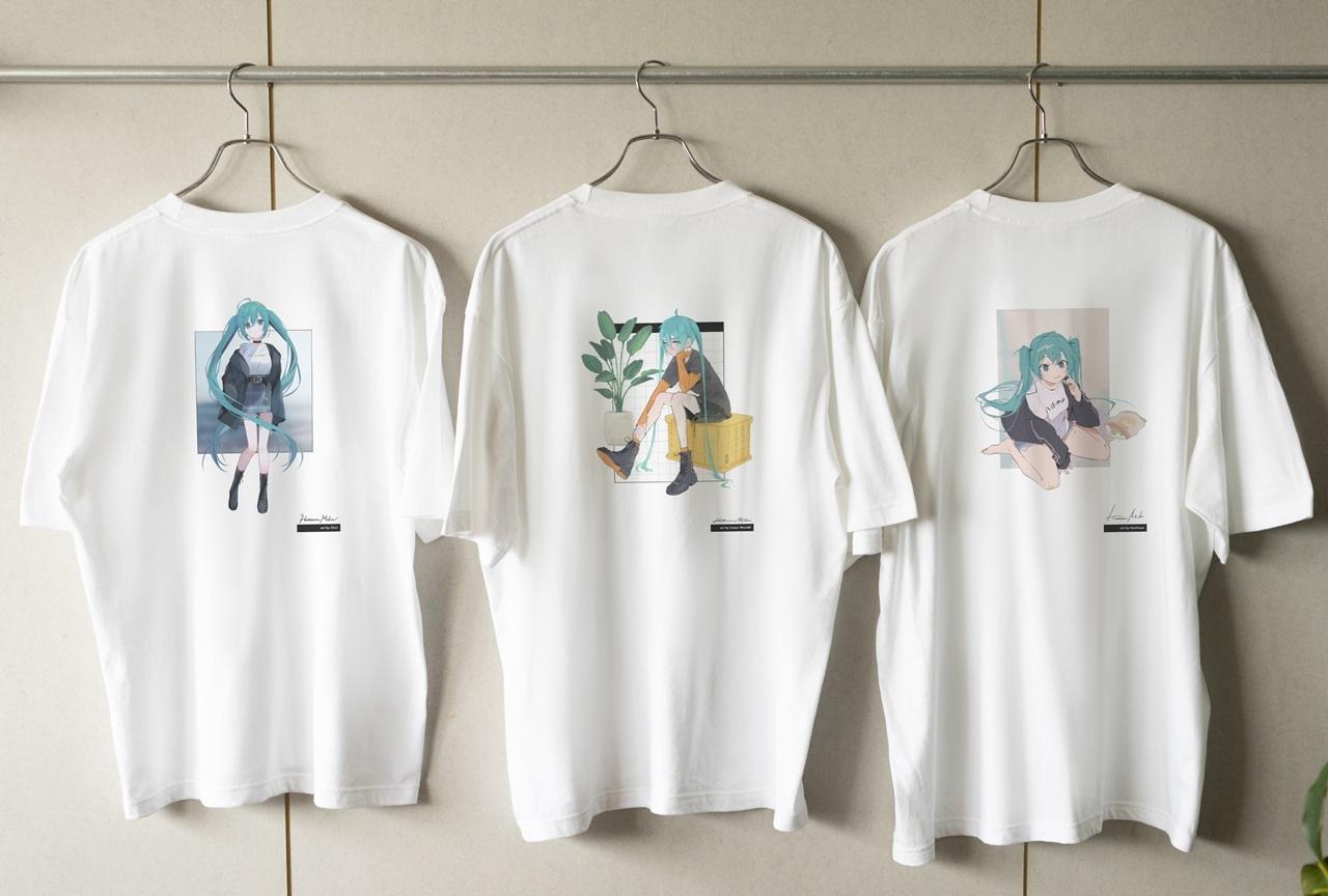 『初音ミク』イラストレーターコラボTシャツ3種が登場