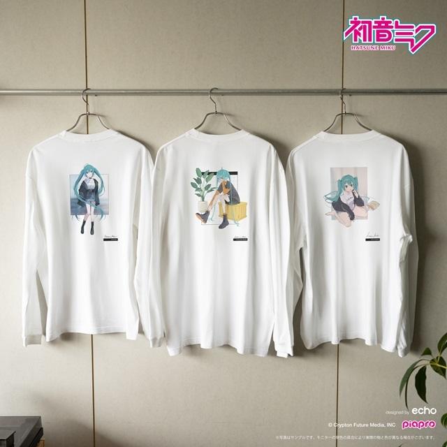 『初音ミク』とイラストレーター・イノウエワラビさん、chiriさん、八三さんのコラボTシャツが登場!-6