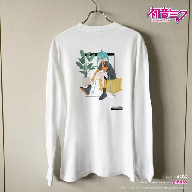 『初音ミク』とイラストレーター・イノウエワラビさん、chiriさん、八三さんのコラボTシャツが登場!-8