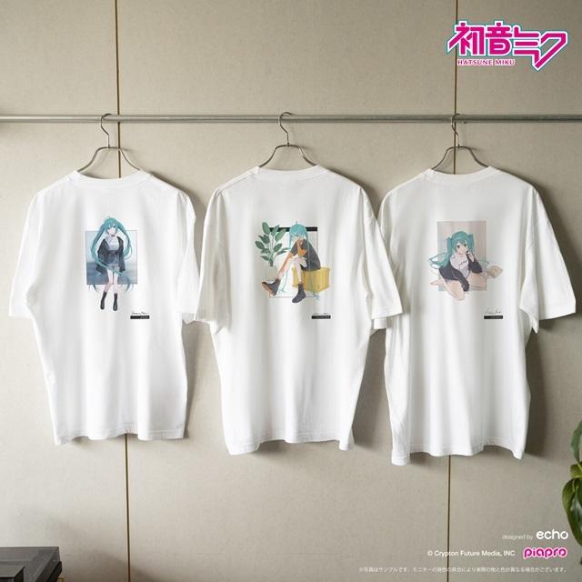 『初音ミク』とイラストレーター・イノウエワラビさん、chiriさん、八三さんのコラボTシャツが登場!-1