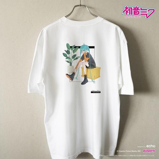 『初音ミク』とイラストレーター・イノウエワラビさん、chiriさん、八三さんのコラボTシャツが登場!-3