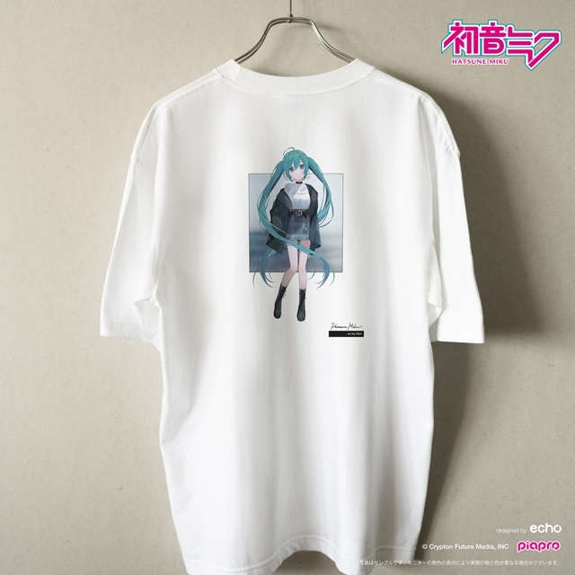『初音ミク』とイラストレーター・イノウエワラビさん、chiriさん、八三さんのコラボTシャツが登場!-4