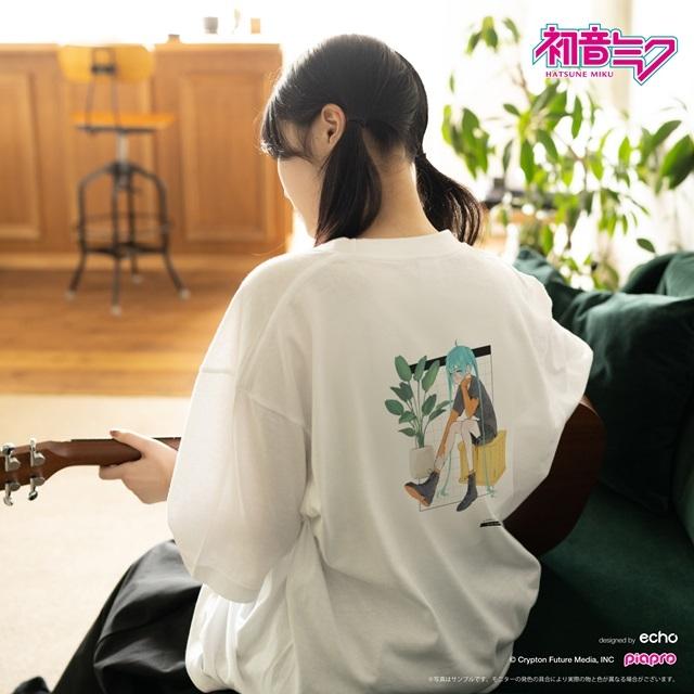 『初音ミク』とイラストレーター・イノウエワラビさん、chiriさん、八三さんのコラボTシャツが登場!-11