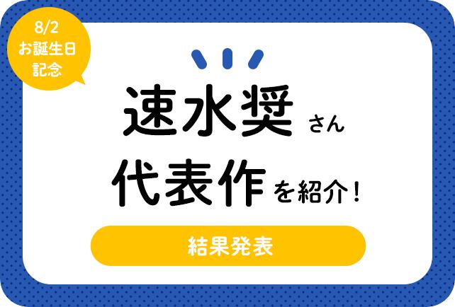声優・速水奨さん、アニメキャラクター代表作まとめ(2021年版)