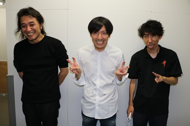 ▲左から笠松広司さん・澤野弘之さん・小形尚弘さん