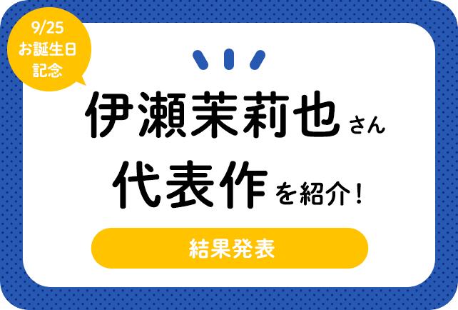 声優・伊瀬茉莉也さん、アニメキャラクター代表作まとめ(2021年版)