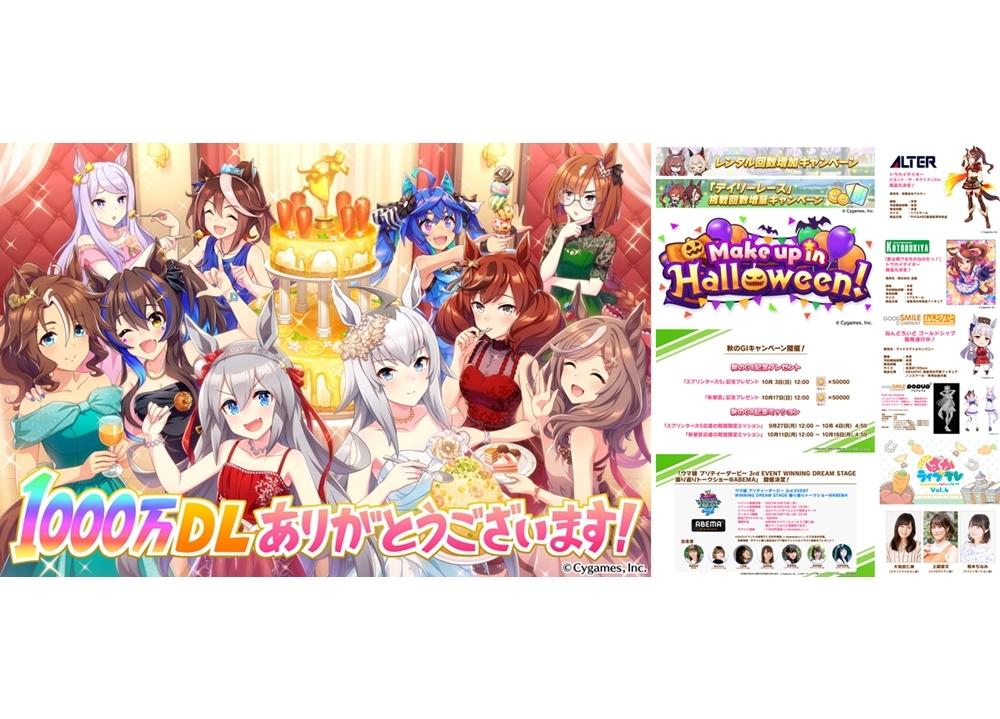 ゲーム『ウマ娘』1000万ダウンロード突破、ジュエル3000個プレゼント!