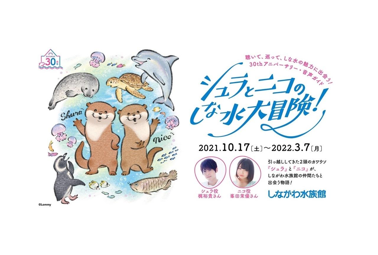 声優・梶裕貴、峯田茉優が水族館の音声ガイドを担当・コメント到着