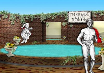 ローマ時代のお風呂を体験!『テルマエ・ロマエ風呂』登場