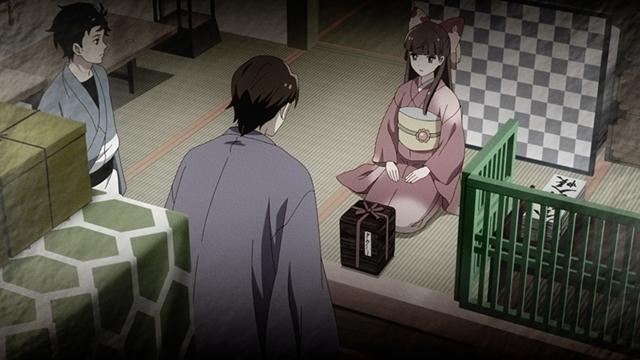 『つくもがみ貸します』第11話「似せ紫」より先行場面カット公開! 勝三郎と早苗、幸之助とおはなの4人を招き、茶会を開こうと……